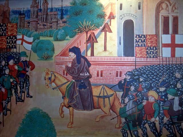 John Ball, der Anführer der Bauernrevolte von 1381 in England