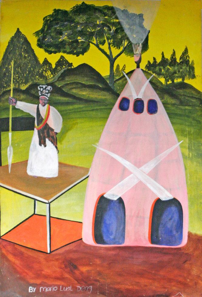 Der Nuer-Prophet Ngundeng. Volkstümliche Darstellung